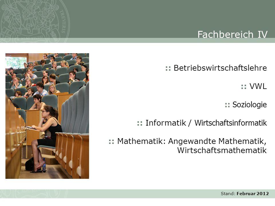 Fachbereich IV :: Betriebswirtschaftslehre :: VWL :: Soziologie