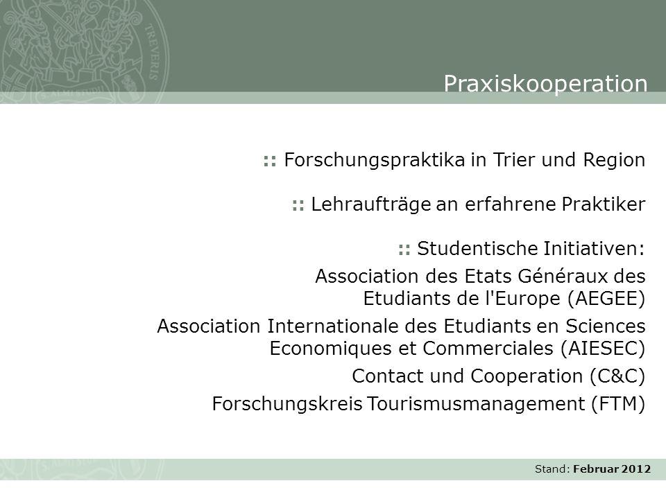 Praxiskooperation :: Forschungspraktika in Trier und Region