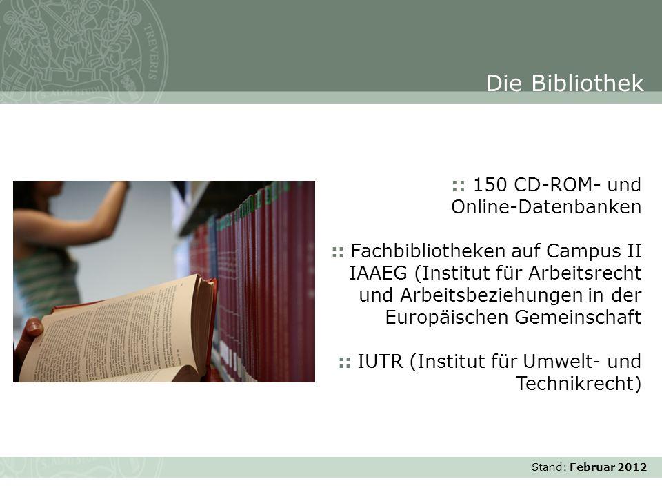 Die Bibliothek :: 150 CD-ROM- und Online-Datenbanken