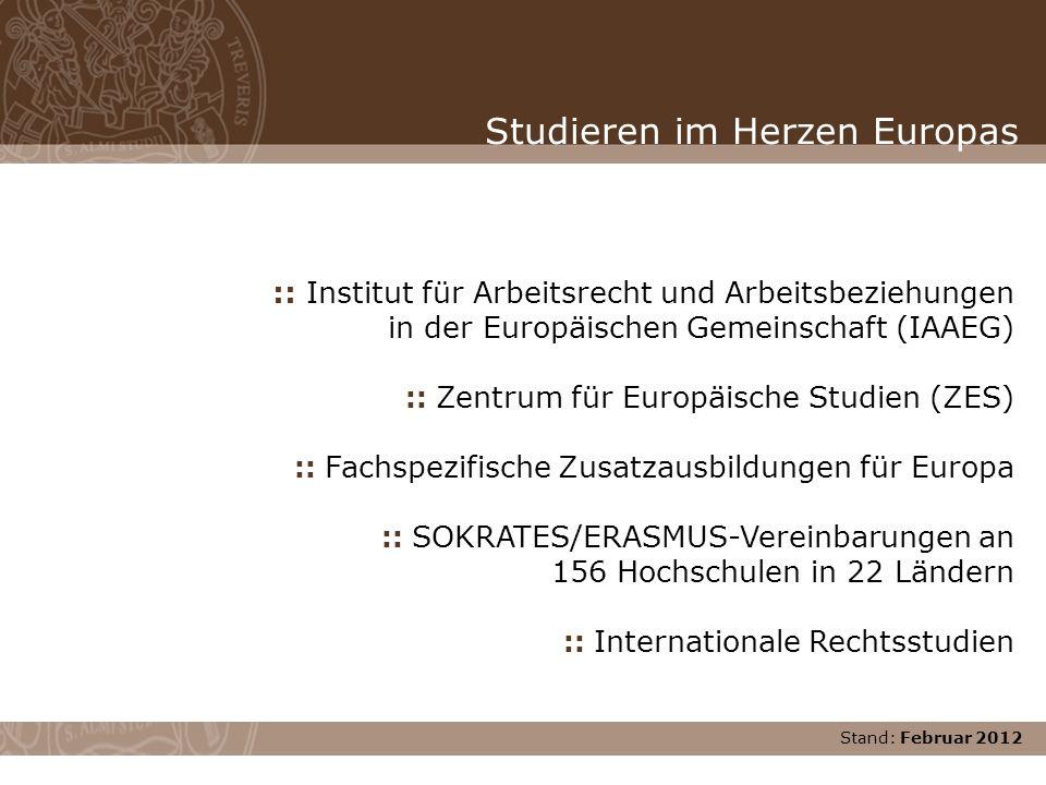Studieren im Herzen Europas