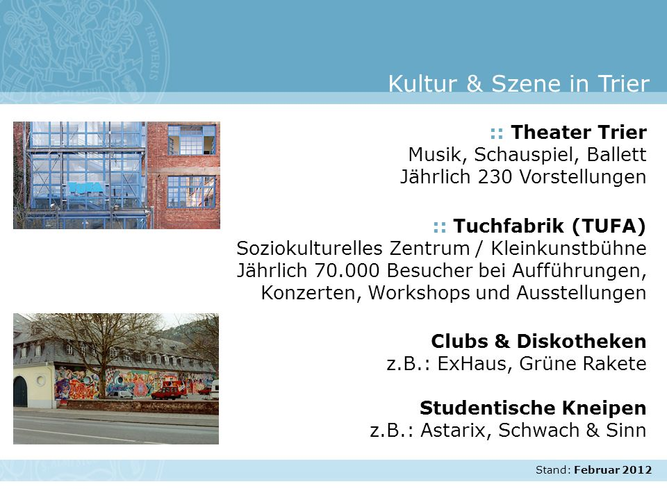 Kultur & Szene in Trier :: Theater Trier Musik, Schauspiel, Ballett