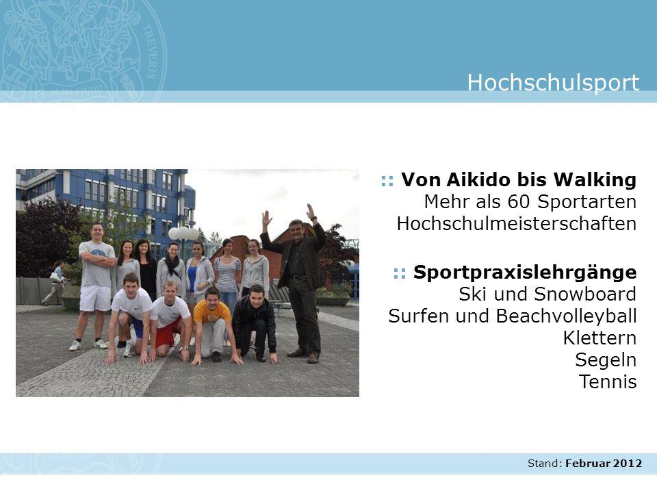 Hochschulsport :: Von Aikido bis Walking