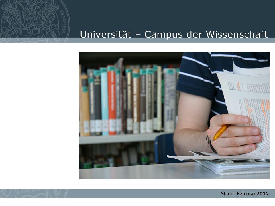 Universität – Campus der Wissenschaft