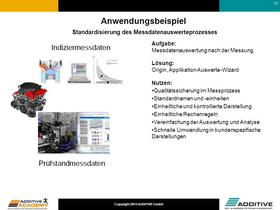 Anwendungsbeispiel Standardisierung des Messdatenauswerteprozesses