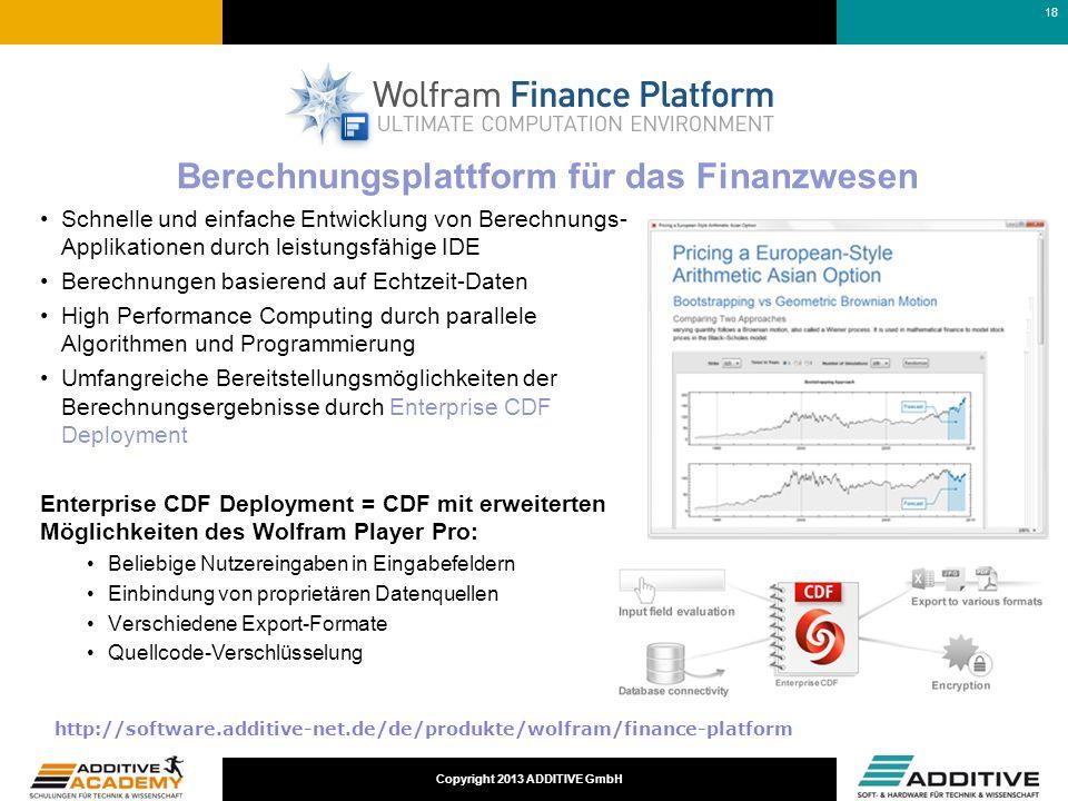 Berechnungsplattform für das Finanzwesen