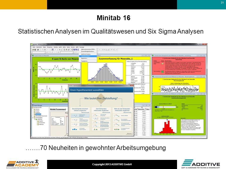 17-03-25 Minitab 16. Statistischen Analysen im Qualitätswesen und Six Sigma Analysen. …….70 Neuheiten in gewohnter Arbeitsumgebung.