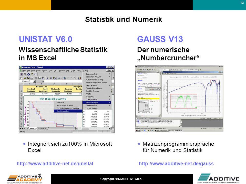 UNISTAT V6.0 GAUSS V13 Statistik und Numerik