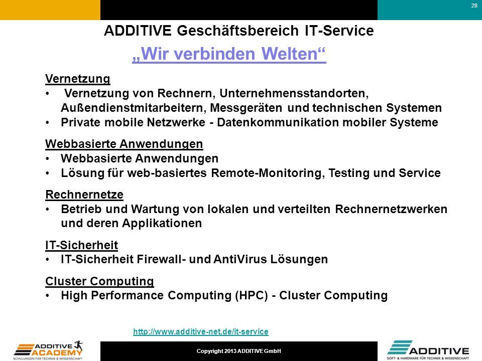ADDITIVE Geschäftsbereich IT-Service