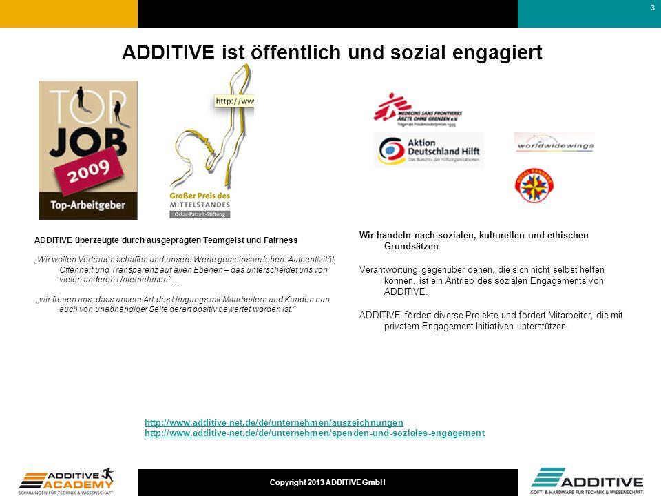 ADDITIVE ist öffentlich und sozial engagiert