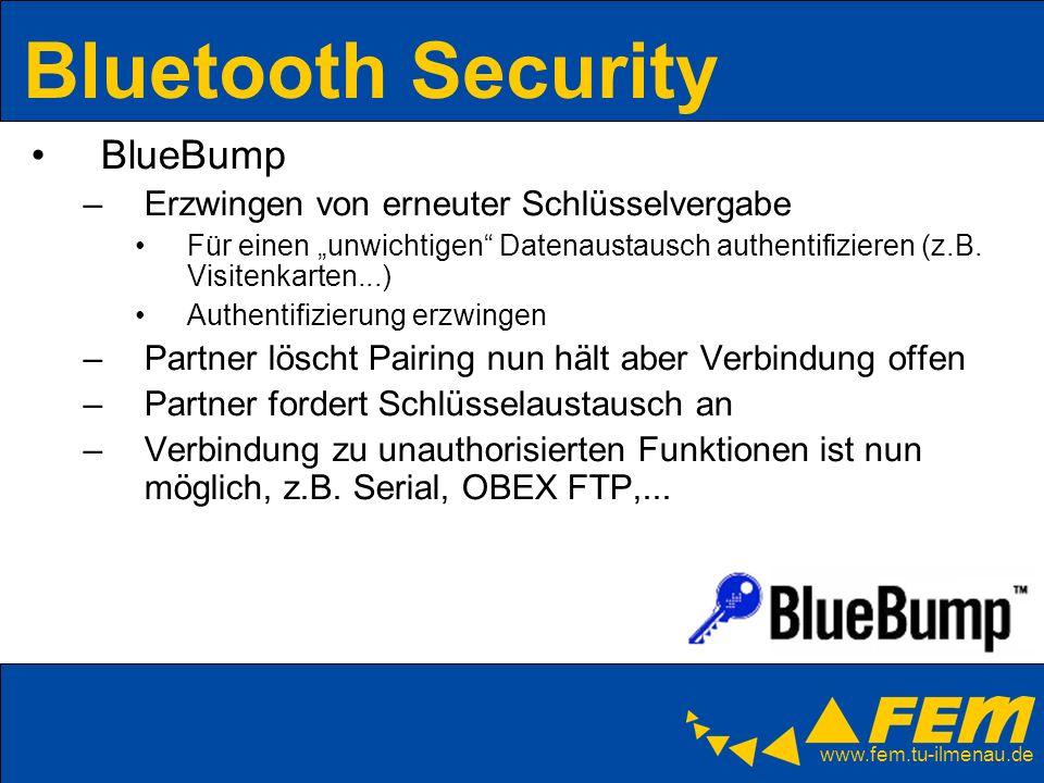 Bluetooth Security BlueBump Erzwingen von erneuter Schlüsselvergabe