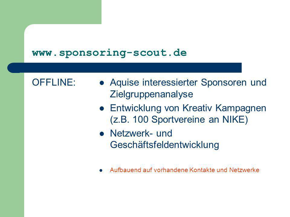 www.sponsoring-scout.de OFFLINE: