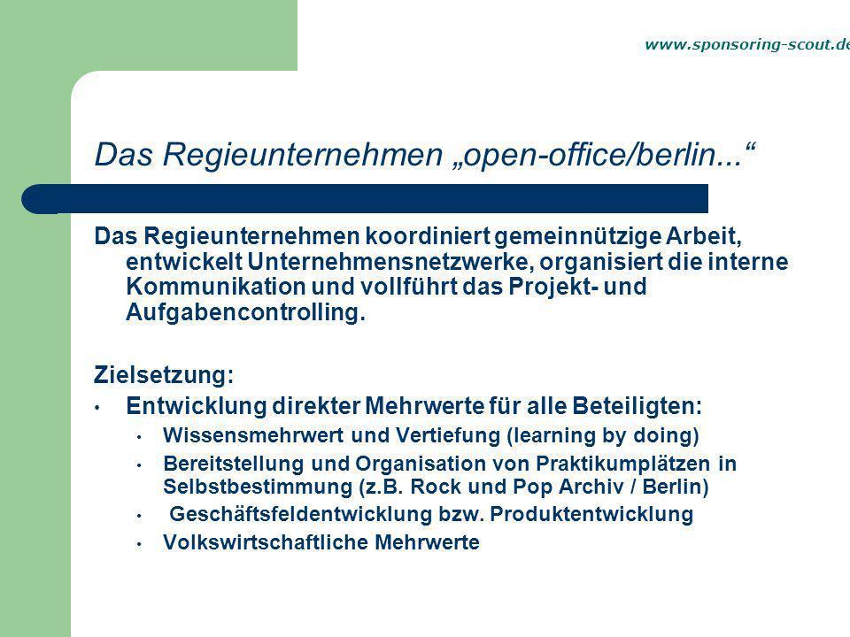 """Das Regieunternehmen """"open-office/berlin..."""