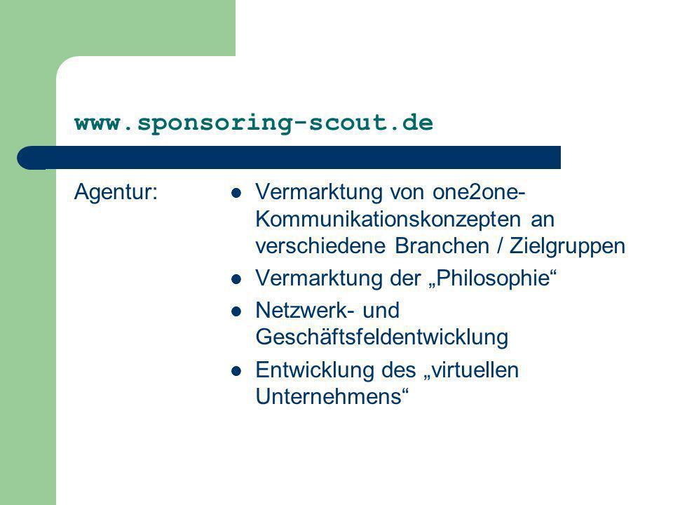 www.sponsoring-scout.de Agentur:
