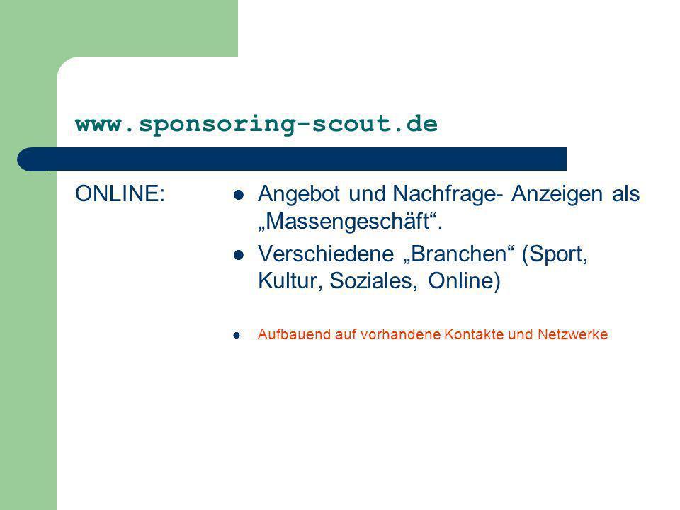 www.sponsoring-scout.de ONLINE: