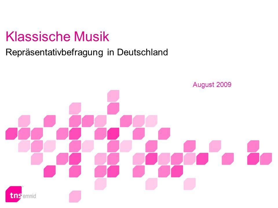 Klassische Musik Repräsentativbefragung in Deutschland