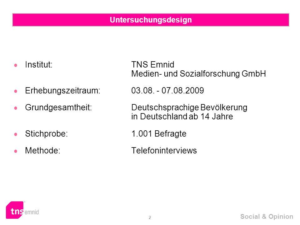  Institut: TNS Emnid Medien- und Sozialforschung GmbH