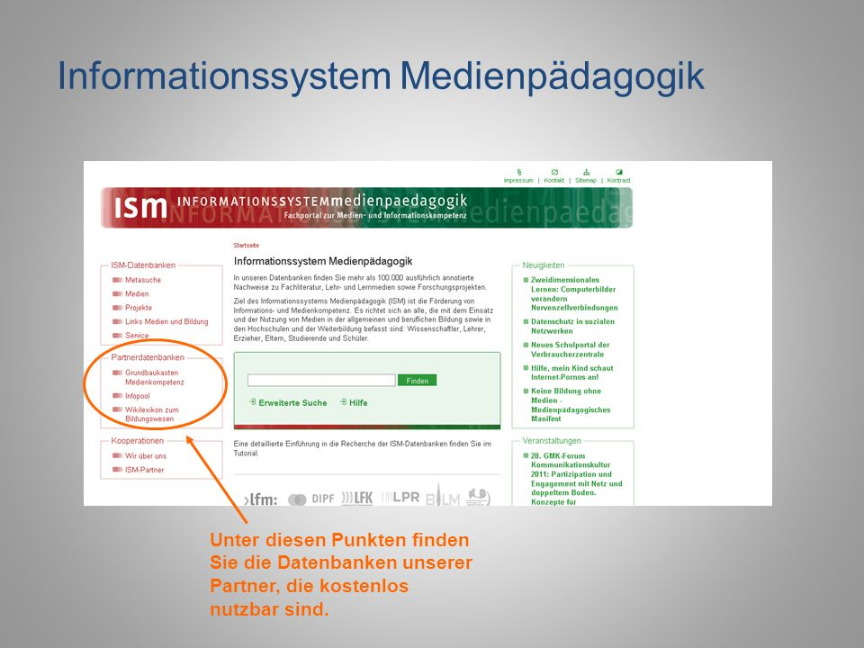 Informationssystem Medienpädagogik