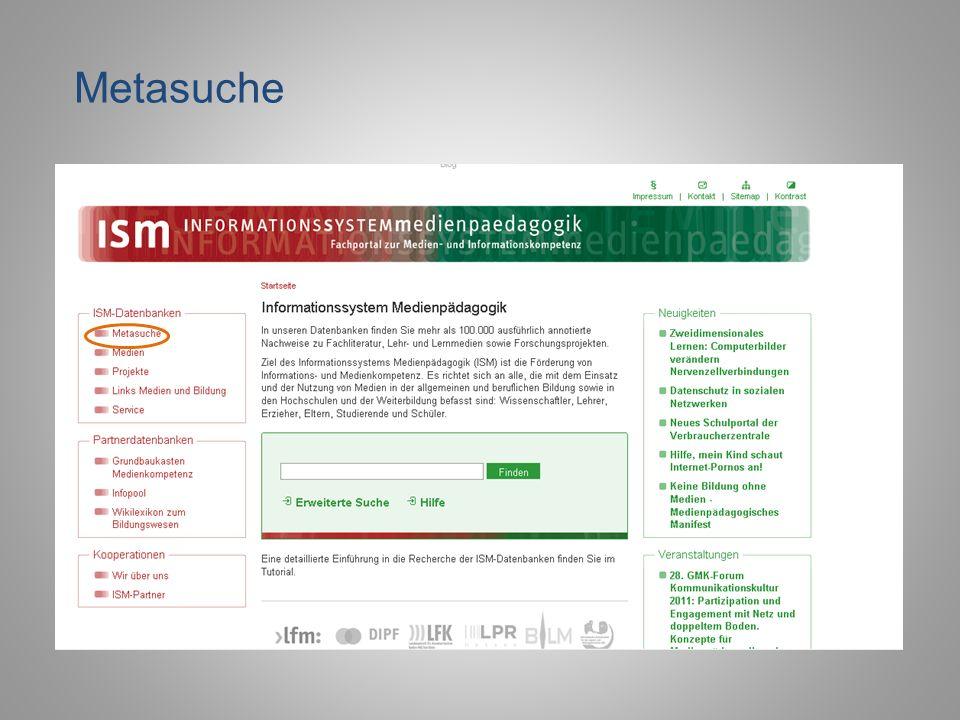 Metasuche DIPF PowerPoint-Präsentation