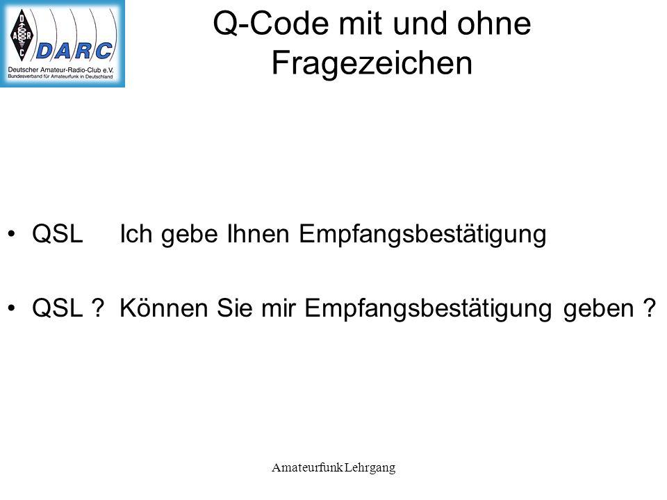 Q-Code mit und ohne Fragezeichen