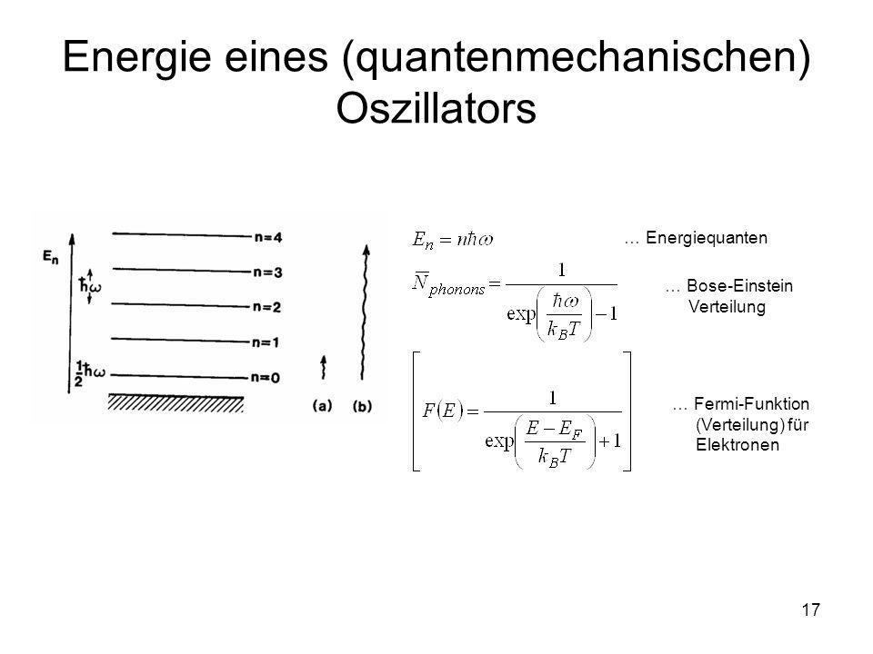 Energie eines (quantenmechanischen) Oszillators