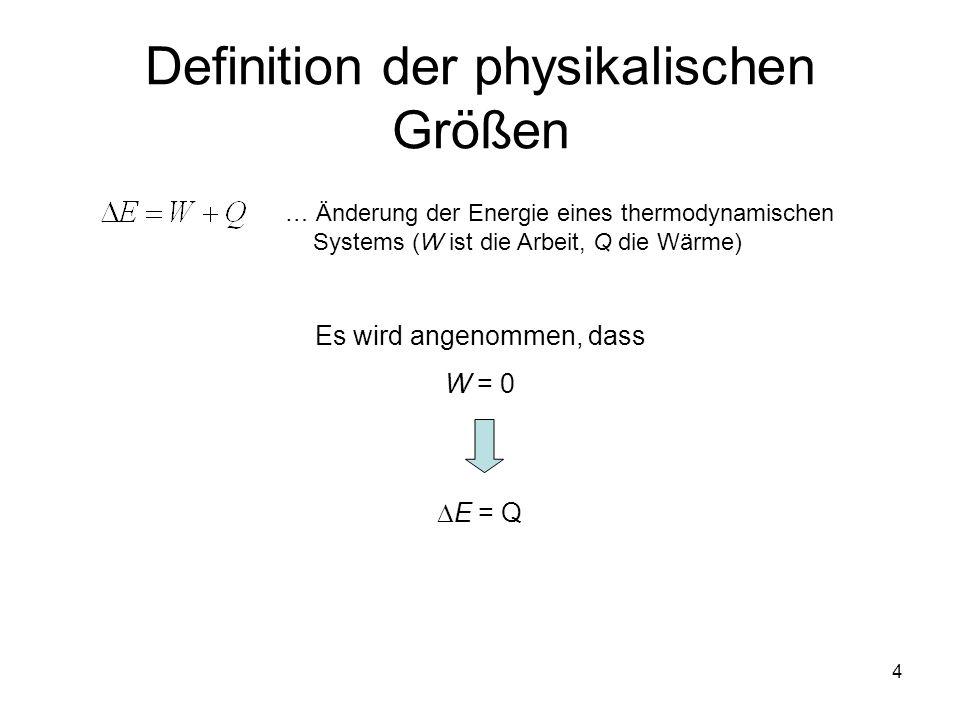 Definition der physikalischen Größen