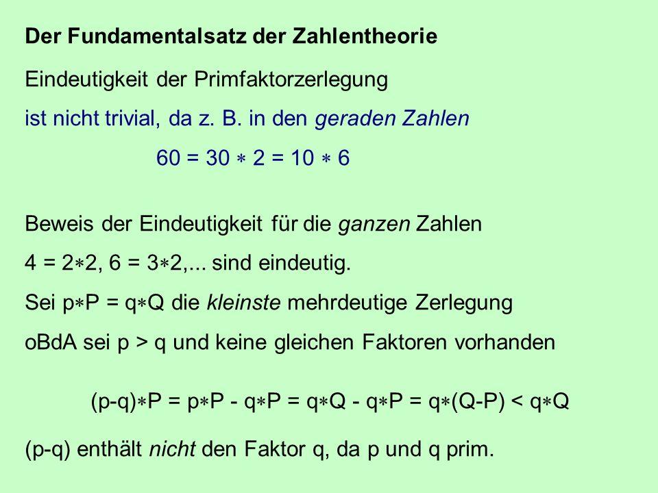 Der Fundamentalsatz der Zahlentheorie