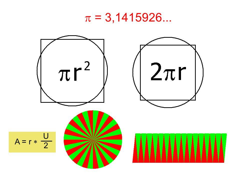 p = 3,1415926... U A = r * 2
