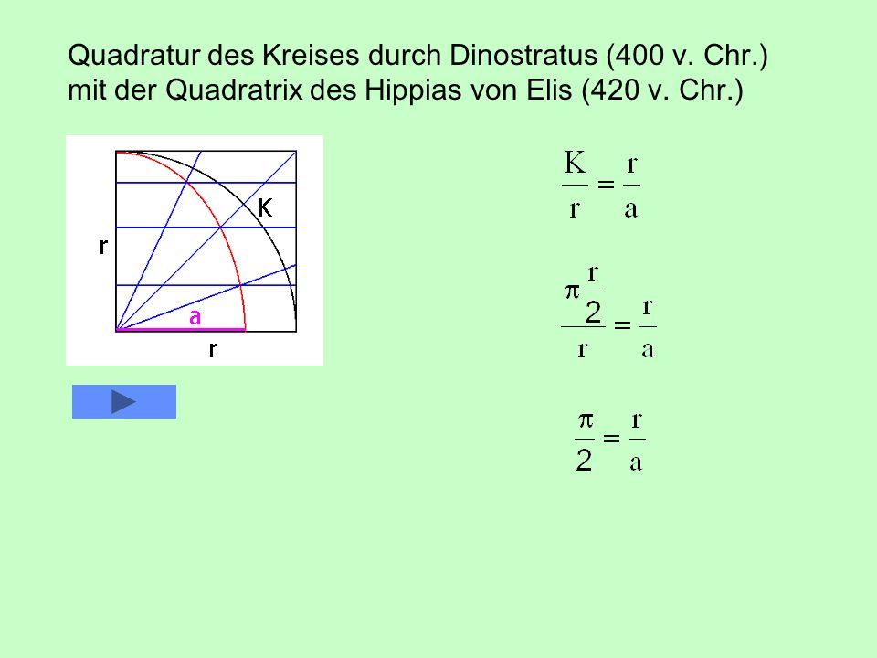 Quadratur des Kreises durch Dinostratus (400 v. Chr.)