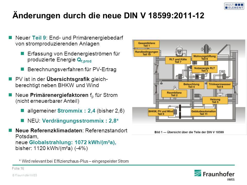 Änderungen durch die neue DIN V 18599:2011-12