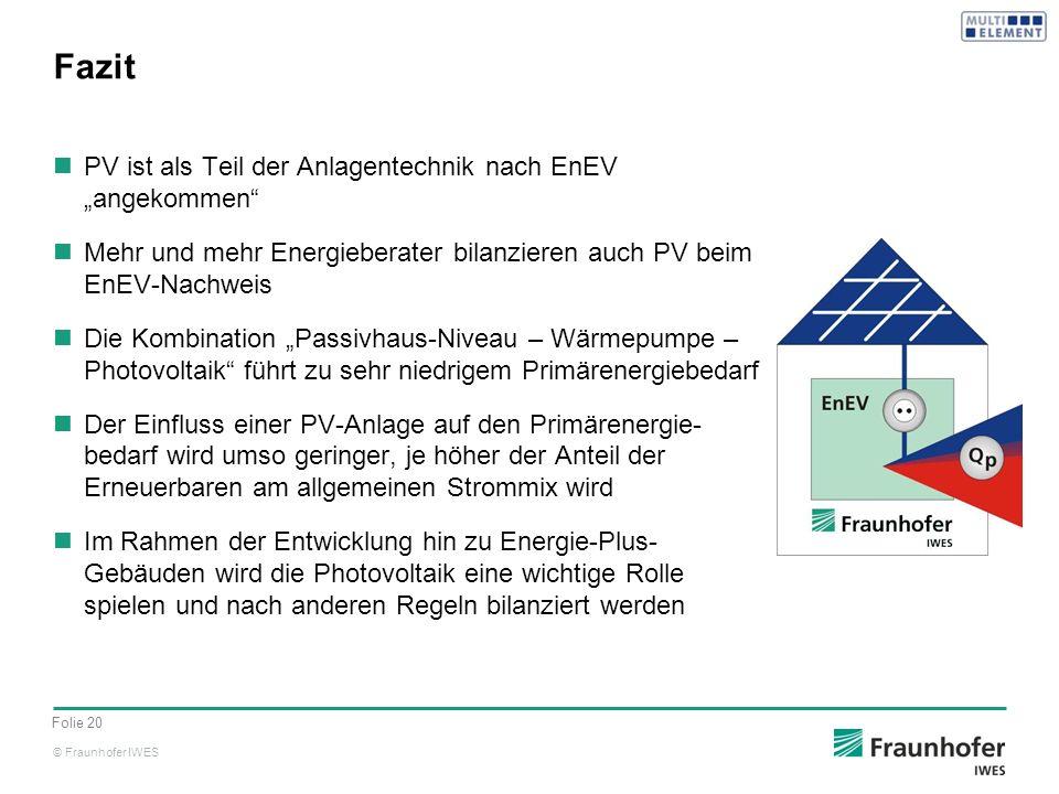 """Fazit PV ist als Teil der Anlagentechnik nach EnEV """"angekommen"""