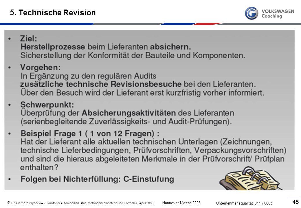 5. Technische Revision