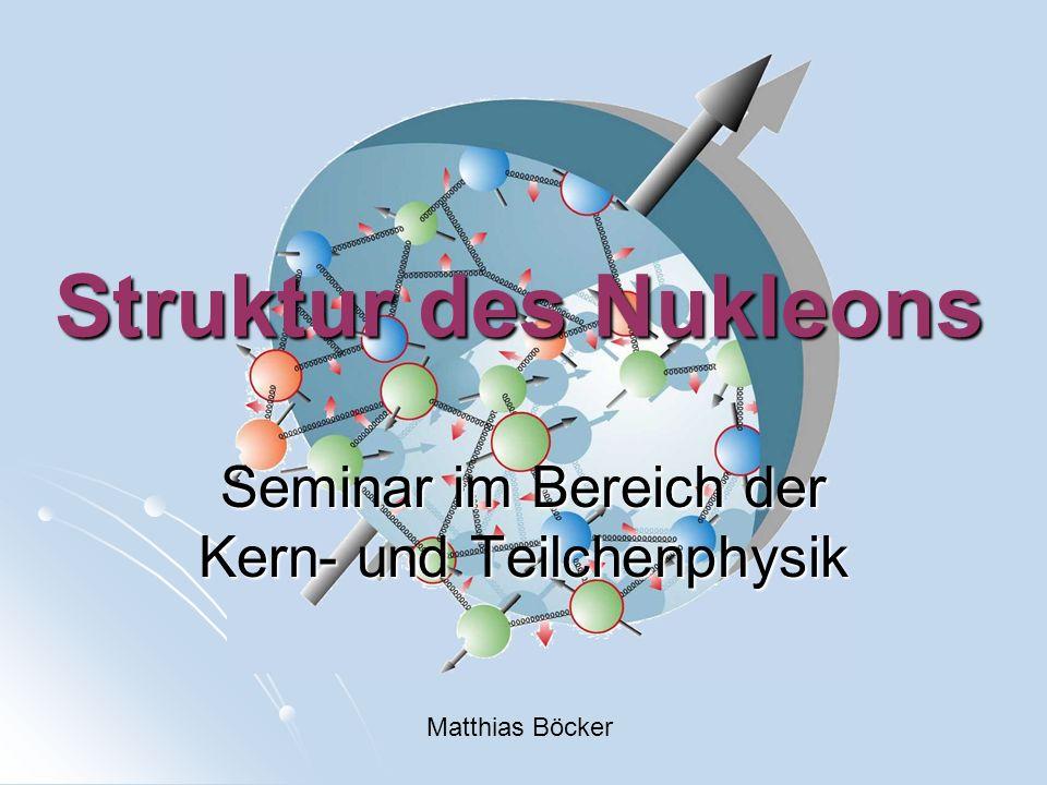 Seminar im Bereich der Kern- und Teilchenphysik