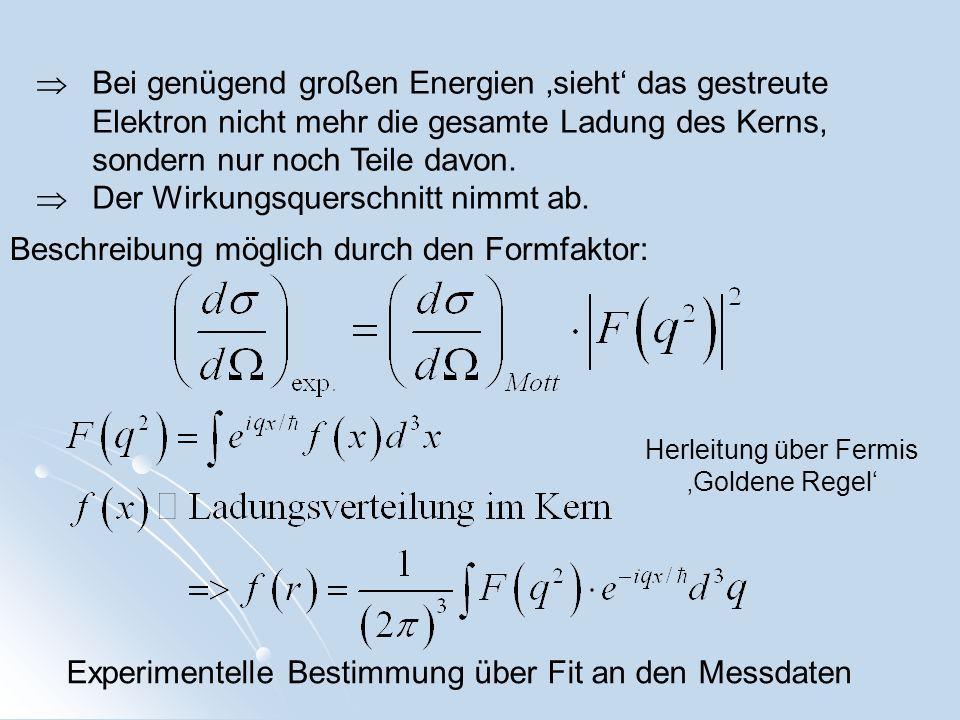 Herleitung über Fermis 'Goldene Regel'