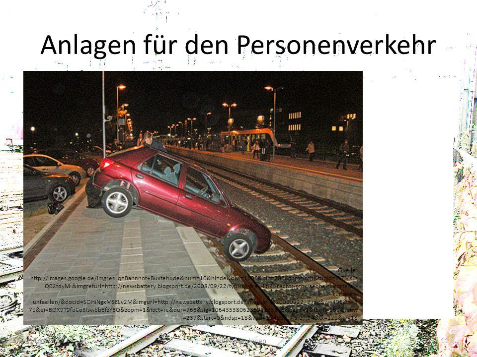 Anlagen für den Personenverkehr