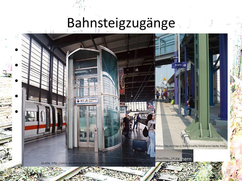 Bahnsteigzugänge Reisendenüberweg Bahnübergang Unterführung