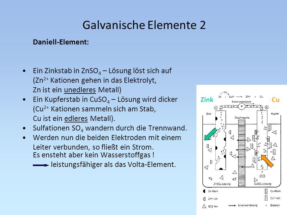 Galvanische Elemente 2 Daniell-Element: