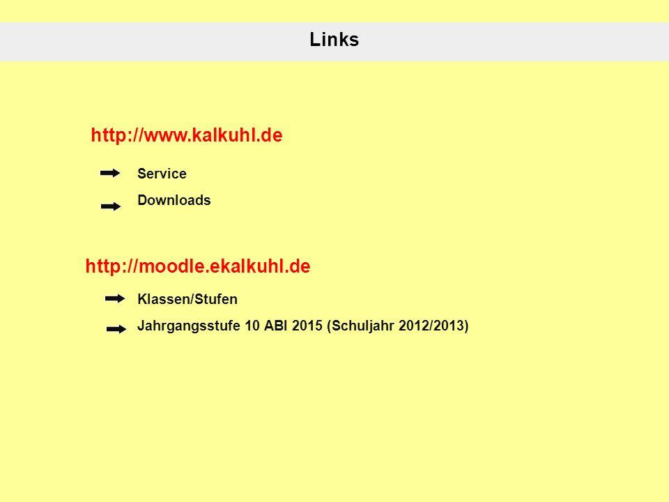 Links http://www.kalkuhl.de http://moodle.ekalkuhl.de Service