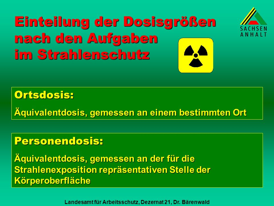 Landesamt für Arbeitsschutz, Dezernat 21, Dr. Bärenwald