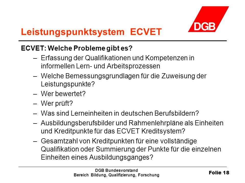 Leistungspunktsystem ECVET