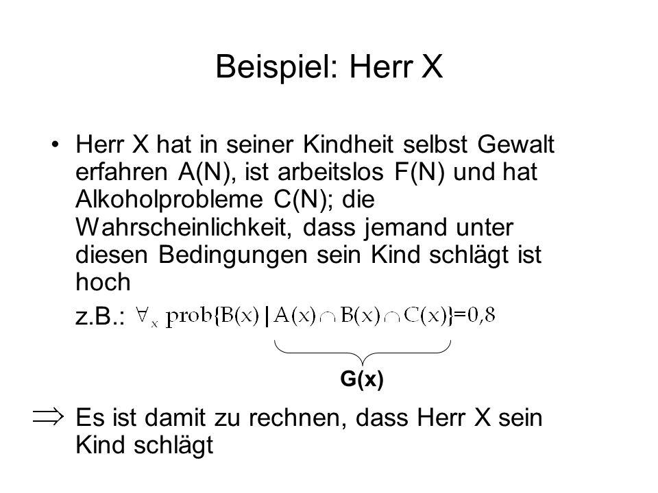 Beispiel: Herr X