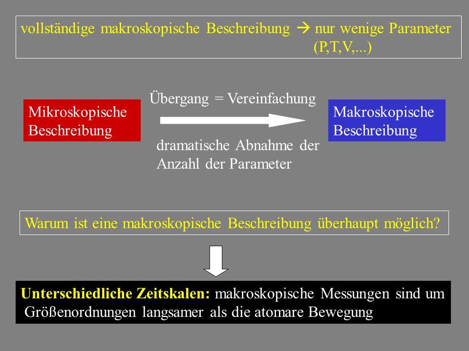 vollständige makroskopische Beschreibung  nur wenige Parameter