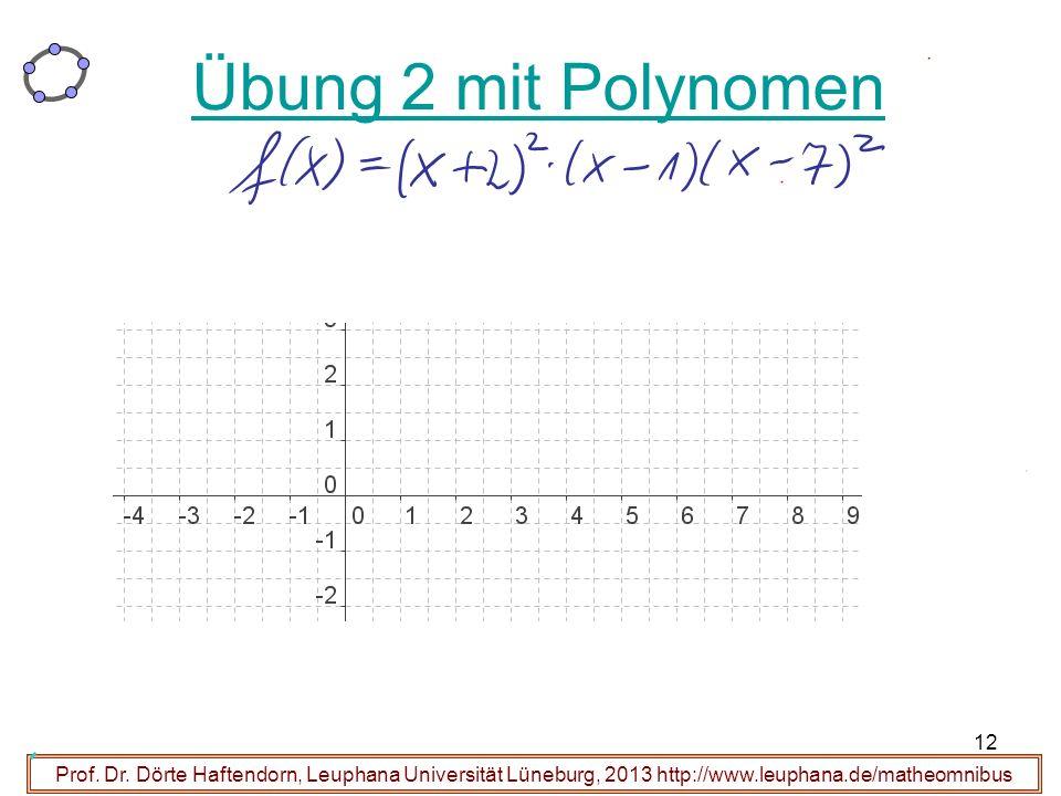 Übung 2 mit Polynomen Prof. Dr.