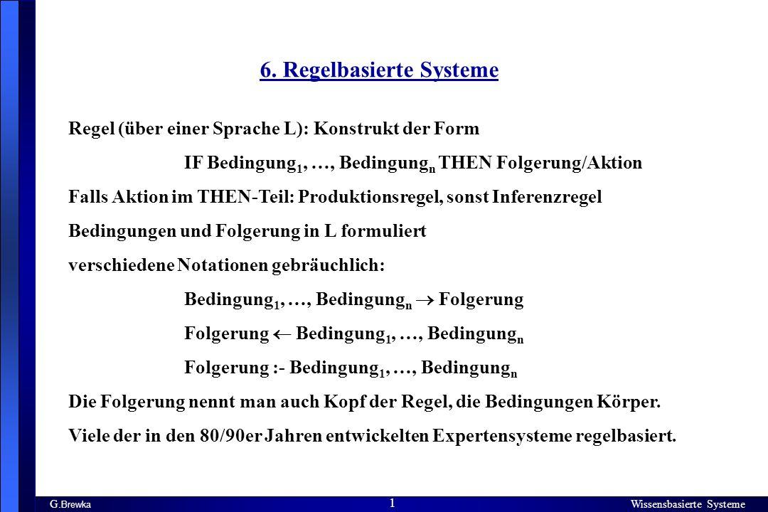 6. Regelbasierte Systeme