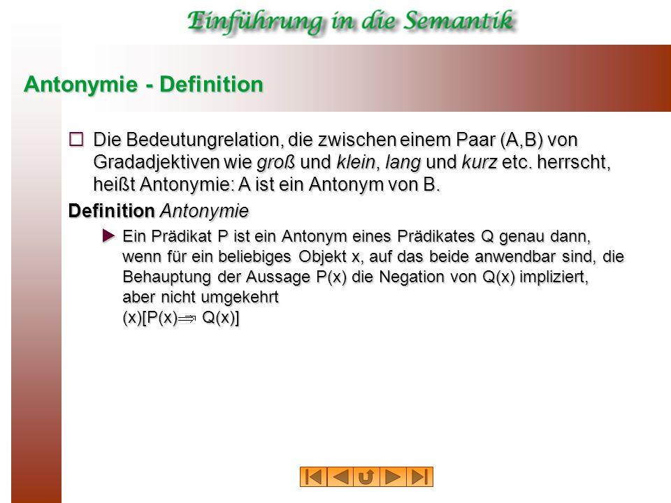 Antonymie - Definition