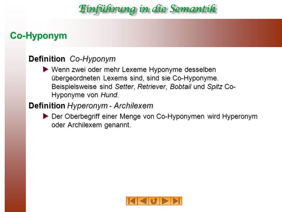 Co-Hyponym Definition Co-Hyponym Definition Hyperonym - Archilexem