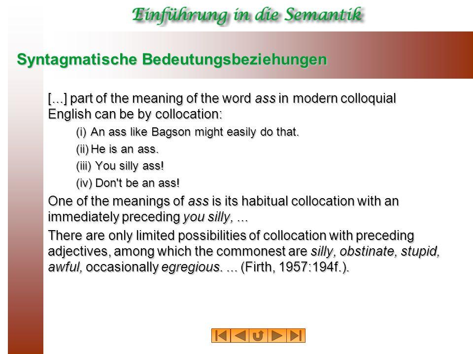Syntagmatische Bedeutungsbeziehungen