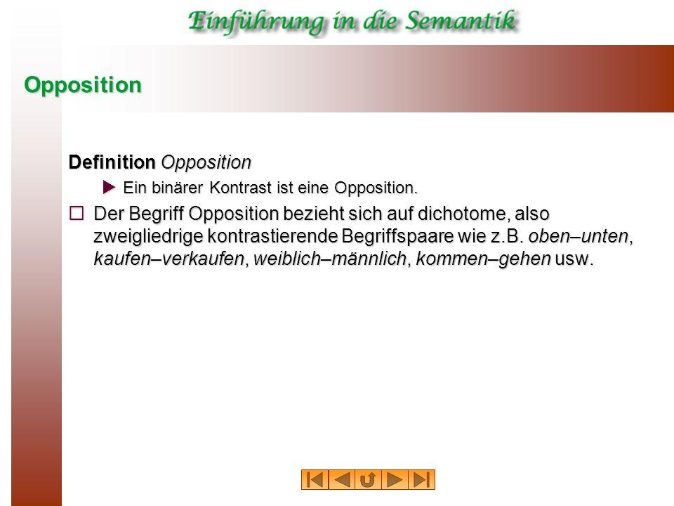 Opposition Definition Opposition