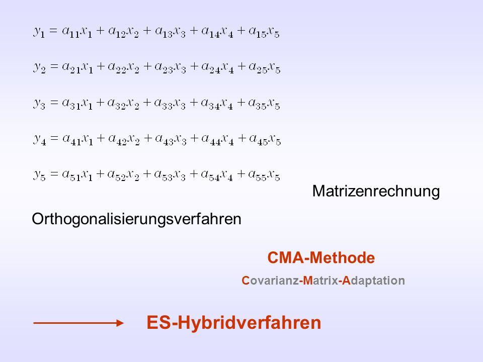 ES-Hybridverfahren Matrizenrechnung Orthogonalisierungsverfahren