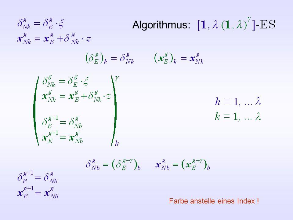 Algorithmus: Farbe anstelle eines Index !