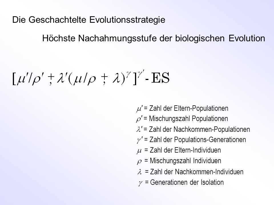 Die Geschachtelte Evolutionsstrategie